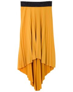 High Low Pleated Skirt - Yellow - LAST FINAL SALE