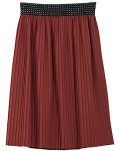 Pleated Skirt - Brown - LAST FINAL SALE