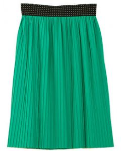 Pleated Skirt - Green - LAST FINAL SALE