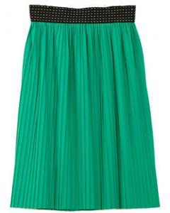 Pleated Skirt - Green - LAST FINAL SALE