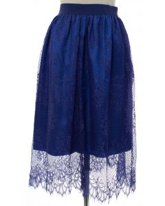 Lace Skirt - Blue - LAST FINAL SALE