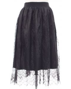 Lace Skirt - Black - LAST FINAL SALE