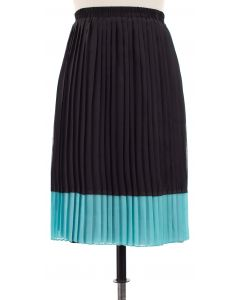 Chiffon Colorblock Skirt - Turquoise