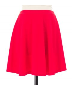 Solid Skater Skirt - Red