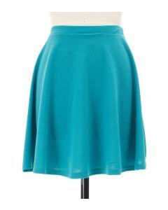 Solid Skater Skirt - Aqua