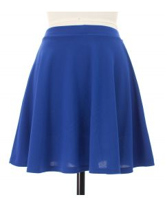 Solid Skater Skirt - Royal Blue