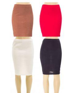Embossed Pencil Skirt - 24 pcs