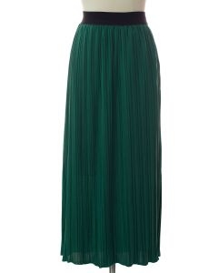 Solid Banded Skirt - Green