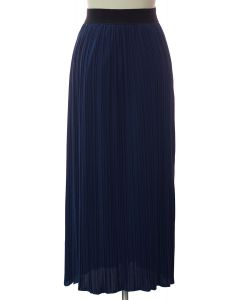 Solid Banded Skirt - Navy