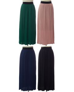 Solid Banded Skirt - Assorted
