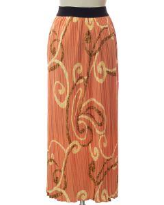 Printed Skirt - Peach Ornate
