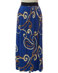 Printed Skirt - Blue Ornate