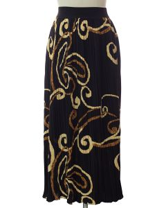 Printed Skirt - Black Ornate
