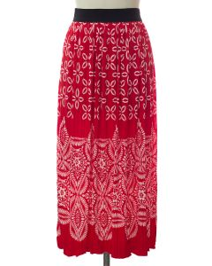 Printed Skirt - Red