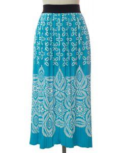 Printed Skirt - Turquoise