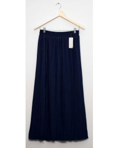 Pleated Maxi Skirt - Navy