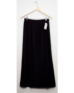 Pleated Maxi Skirt - Black