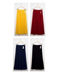 Pleated Maxi Skirt - Assorted