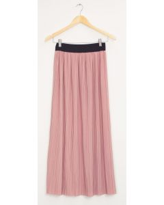 Banded Waist Maxi Skirt - Pale Pink