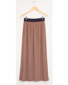 Banded Waist Maxi Skirt - Sepia