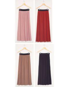 Banded Waist Maxi Skirt - Assorted