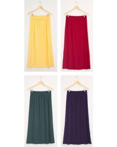 Pleated Waistband Skirt - Assorted