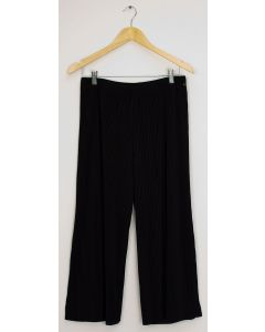 Pleated Wide Leg Trousers - Black