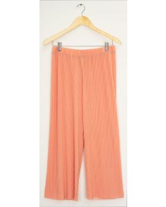 Pleated Wide Leg Trousers - Peach