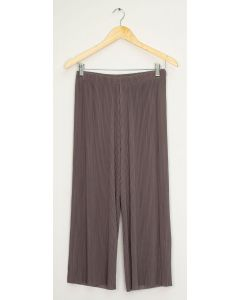 Pleated Wide Leg Trousers - Walnut