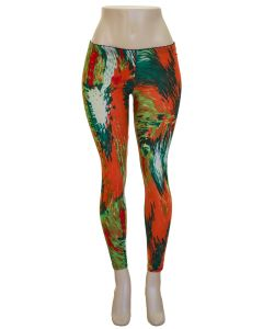 Tropical Print Legging -Orange/Green - LAST FINAL SALE