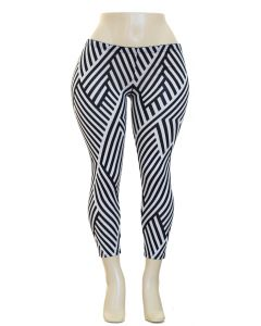 Plus. Geo Hacci Leggings - Stripes