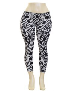 Plus. Geo Hacci Leggings - MultiShapes