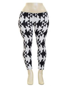Plus. Geo Hacci Leggings - Triangles
