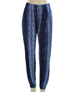 Ornate Print Joggers - Blue/Navy
