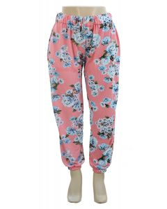 Plus. Floral Joggers - Pink