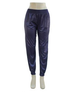 Faux Leather Joggers - Navy