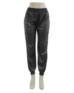 Faux Leather Joggers - Black