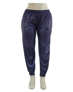 Plus. Faux Leather Joggers - Navy