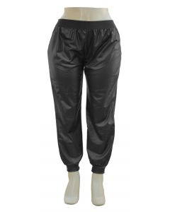 Plus. Faux Leather Joggers - Black