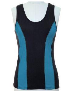 Colorblock Top - Black/Turquoise