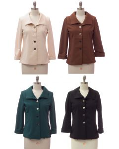 Wide Collar Car Blazer - Assorted