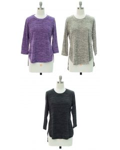 High Low Hacci Top - Assorted