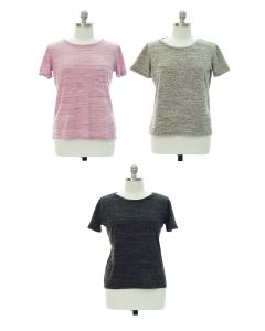 Plus Button Back Hacci Top - Assorted
