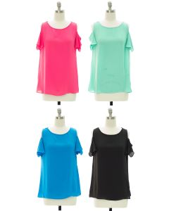 Cold Shoulder Blouse - Assorted
