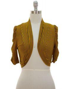 Striped Bolero - Mustard - LAST FINAL SALE