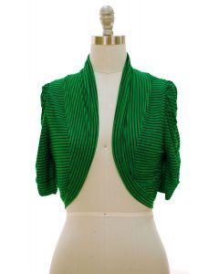 Striped Bolero - Green - LAST FINAL SALE