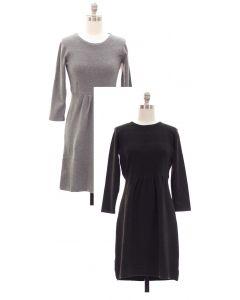 Fine Gauge Flare Sweater Dress - Asst