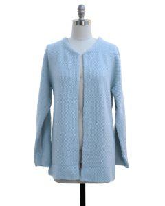 Solid Sweater Coat - Light Blue