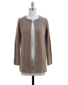 Solid Sweater Coat - Taupe