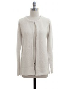 Solid Sweater Coat - Ivory